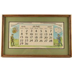 Original Winchester June 1919 Calendar