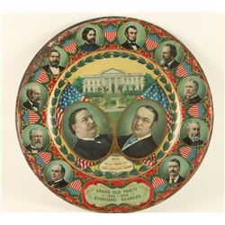 1908 G.O.P. Taft Campaign Advertising Plate
