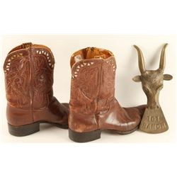 101 Ranch Cowboy Boots & Boot Jack