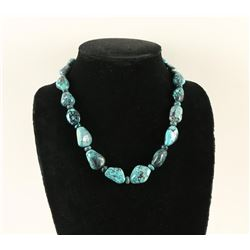 Chinese Turquoise Single Strand Necklace