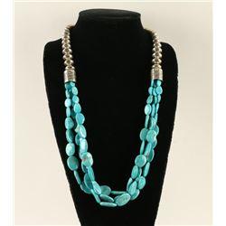 Navajo Three Strand Sleeping Beauty Necklace