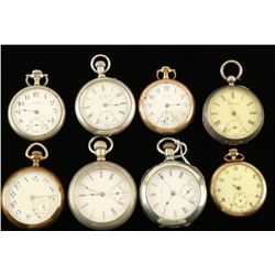 Lot of 8 Pocketwatches