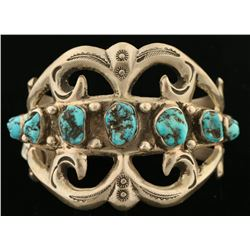 Navajo Kingman Turquoise Bracelet