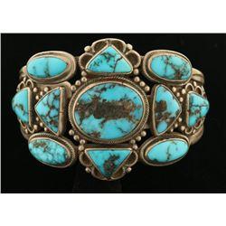 Navajo Lone Mountain Turquoise Bracelet