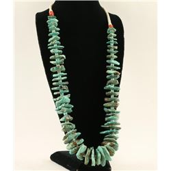 Natural Turquoise Old Pawn Necklace