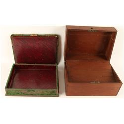 Civil War Era Portable Men's Lap Desk & Felt