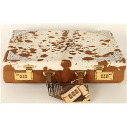 Spotted Cowhide Briefcase