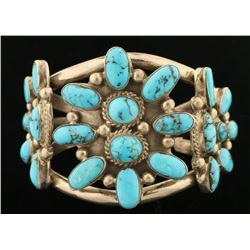 Persian Turquoise Navajo Cuff Bracelet