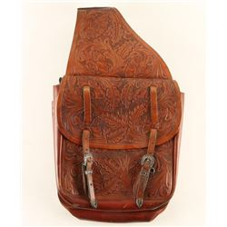 Pair of Floral Tooled Saddlebags