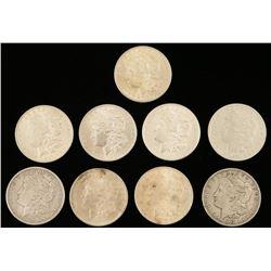 Lot of 9 Morgan Silver Dollars