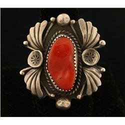 Navajo Coral Ring Set
