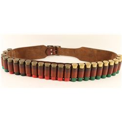 Shotgun Cartridge Belt with Shells