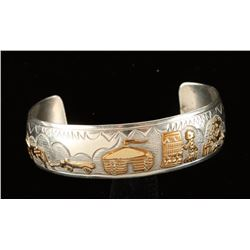 Beautiful Gold Filled Sterling Storyteller Cuff