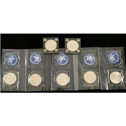 (7) Eisenhower Silver Dollars