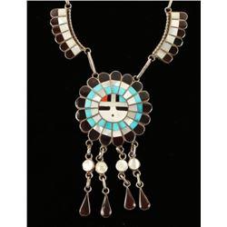 Beautiful Zuni Sunface Necklace