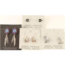 Lot of 4 Native American Made Earrings