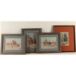 Lot of 4 Framed Herbert Dutton Prints