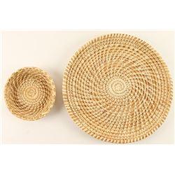 2 Basketry Trays