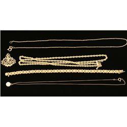 Gold Jewelry Lot