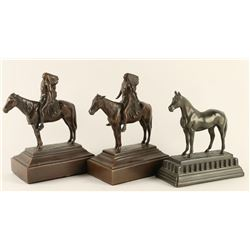 Lot of 3 Bronze Bookends