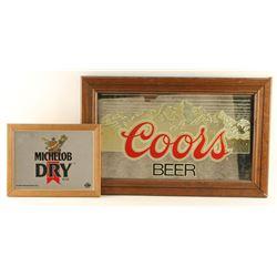 Lot of 2 Beer Advertiser Mirrors