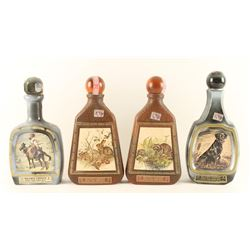 Lot of 4 Beam's Choice Decanters