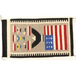 Small Hand Woven Navajo Pictorial Rug