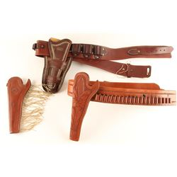Lot of 2 Holster Rigs with Cartridge Belts