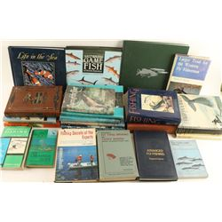 Large Lot of Fishing Related Books