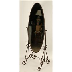 Full Length Mirror on Wrought Iron Stand