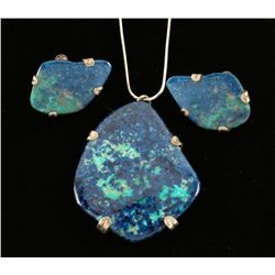 Lapis Necklace & Earrings Set