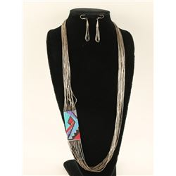 Multi Strand Shimmering Waters Necklace