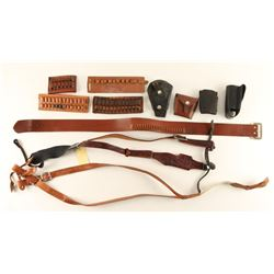 Lot of Gun Leather & Accessories