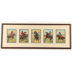 Set of Framed Cowboy & Cowgirl Prints