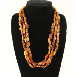 Lot of 2 Amber Necklaces
