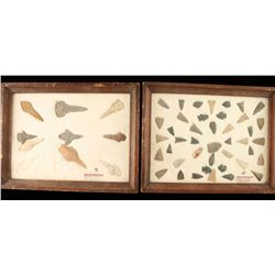 Lot of 2 Stone Points in Frames
