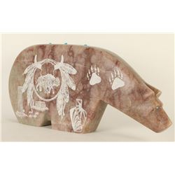 Stone Carving of Bear by Yazzie