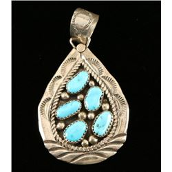 Native American Turquoise Pendant