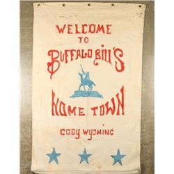 Canvas Painted Buffalo Bill Sign