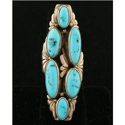 Navajo Ladies Turquoise Cluster Ring Set