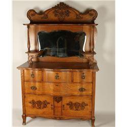 Antique Tiger Oak Sideboard