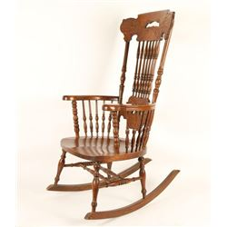 Antique Pressed Back Rocking Chair