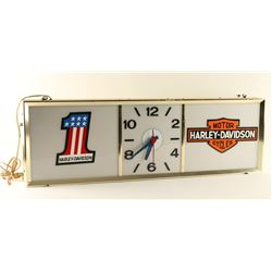 Harley Davidson Advertiser Clock