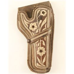 Piteado Mexican Holster with Floral Motif