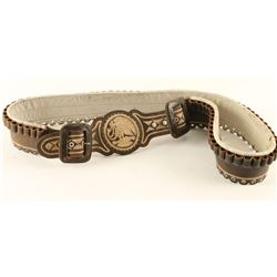 Mexican Piteado Leather Belt with Mexican Eagle