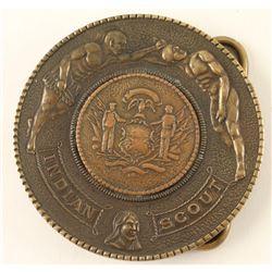 Vintage Fairchild Mfg Indian Scout Buckle