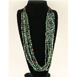 6 Strand Navajo Oriental Turquoise Necklace
