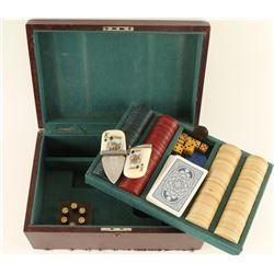 Custom Wooden Box Gambler's Set