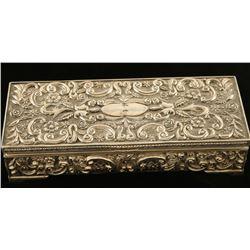 Silver Plated Jewelry/Gun Box