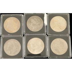 Lot of 6 Morgan Silver Dollars